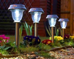 bombillas solares jardín